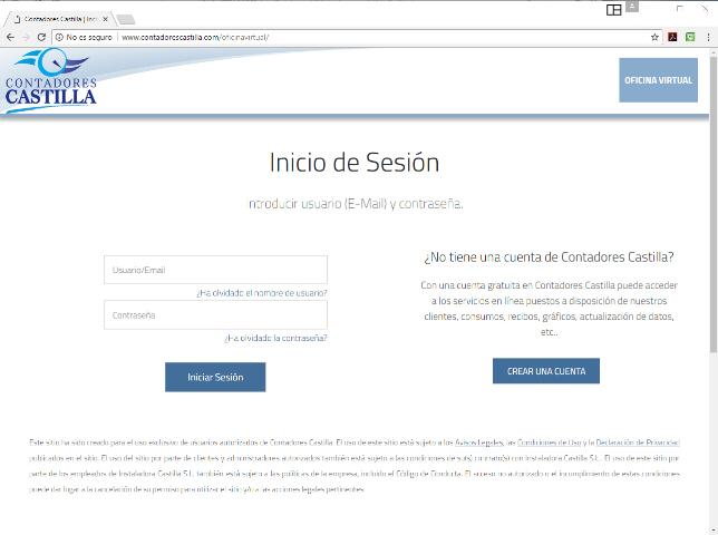 Contadores castilla oficina virtual de clientes - Oficina virtual industria ...